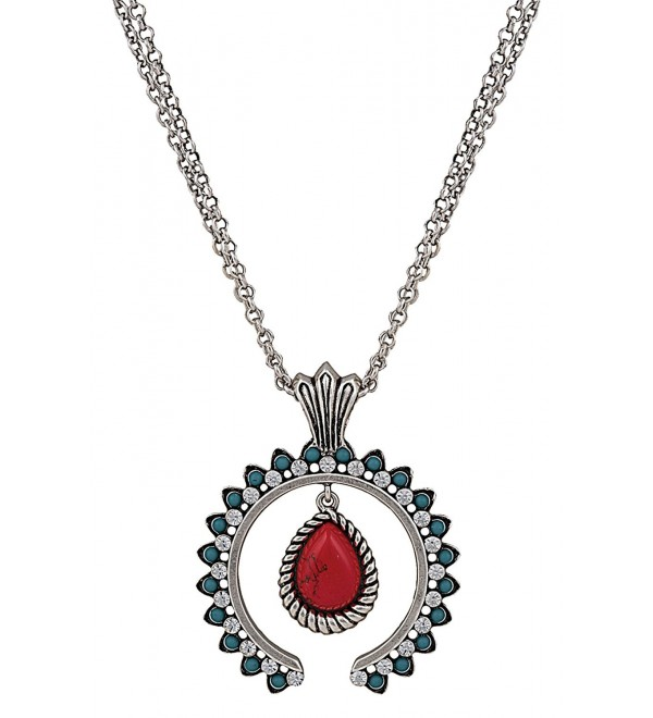 Rock 47 Turquoise Blossom Necklace - CM11UYLKOIF