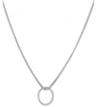 Hammered Open Circle of Life Unity and Infinity Necklace 18' Stainless Steel Chain. - C912MYJ2QL0