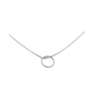 Hammered Circle Infinity Necklace Stainless