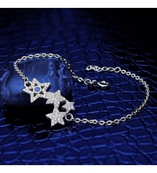 EleQueen Sterling Shining Bracelet Extender in Women's Link Bracelets