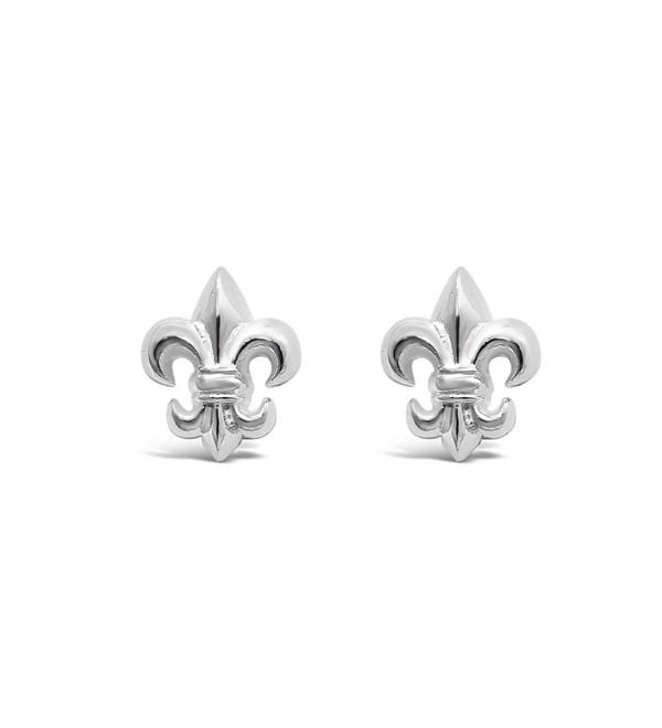 Sterling Silver Fleur-Di-Lis Earrings 100% Hypoallergenic and Nickel Free - CI17YDT6LML