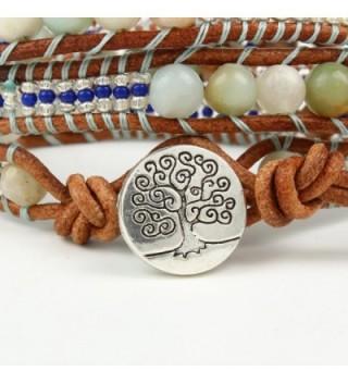Bonnie Leather Bracelet Meditation Amazonite