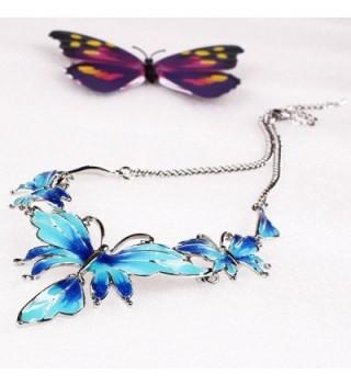 QIYUN Z Butterfly Pendant Necklace Earrings in Women's Pendants