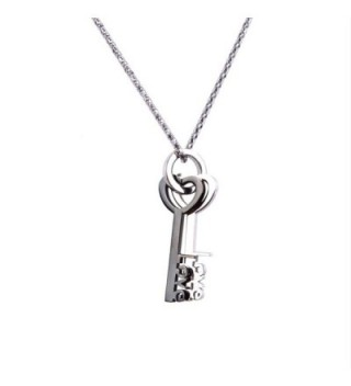 Lovers Heart Stainless Pendant Necklace