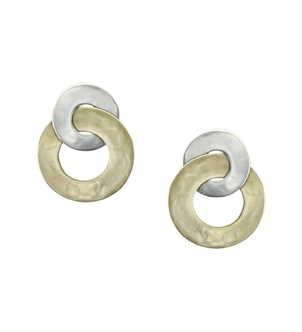Marjorie Baer Intertwined Wide Ring Clip on Earring in Brass and Silver - C912BY0CGXF