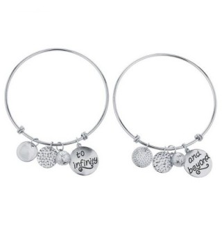 Lux Accessories Silvertone To Infinity And Beyond BFF Charm Bracelets - C417YNZOSRT