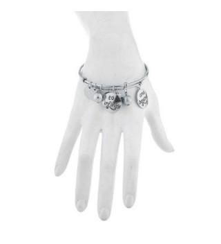 Lux Accessories Silvertone Infinity Bracelets