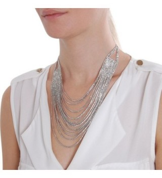Humble Chic Waterfall Multi Strand Silver Tone
