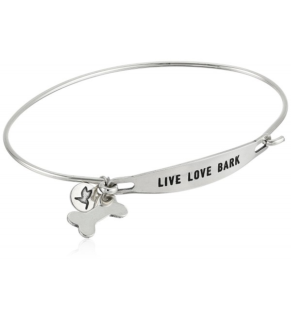 Chamilia Live Love Bark Bangle Bracelet - Silver - C012O1649RG