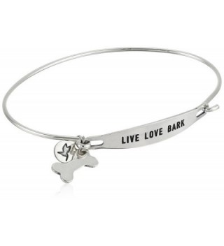 Chamilia Live Love Bark Bangle Bracelet - Silver - C012O1649RG