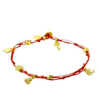 Anklet Gold Plated Luck Charms in Women's Anklets