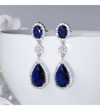 SELOVO Pierced Earrings Silver Zirconia