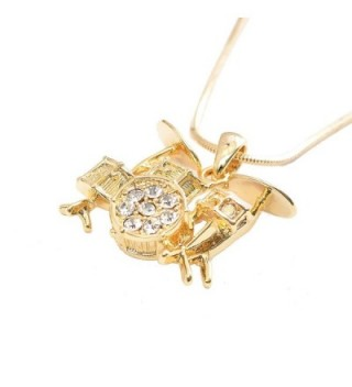 Spinningdaisy Crystal Miniature Drum Necklace in Women's Pendants