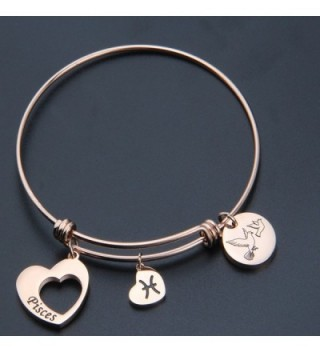 Maofaed Zodiac Constellation bracelet Pisces Rose in Women's Bangle Bracelets