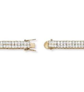 Double Tennis Bracelet Princess Zirconia