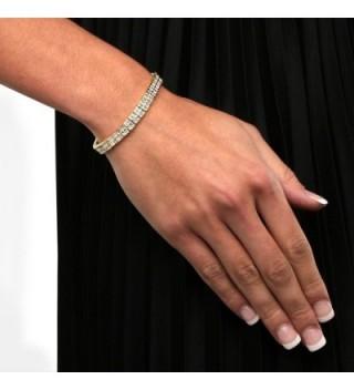 Double Tennis Bracelet Princess Zirconia in Women's Tennis Bracelets