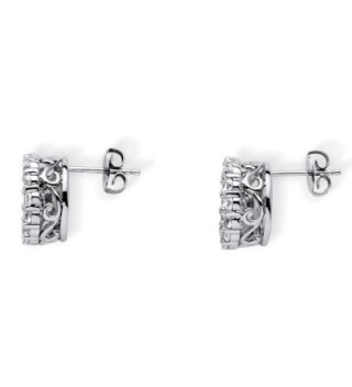 Zirconia Motion Earrings Platinum Silver