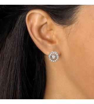 Zirconia Motion Earrings Platinum Silver in Women's Stud Earrings