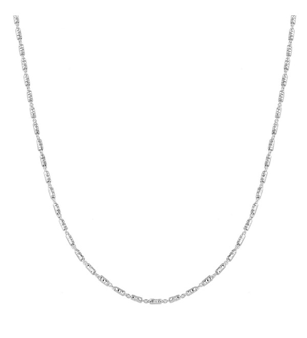 Sterling Silver 1.5mm Diamond-Cut Bar Link Chain (16- 18- 20- 22- 24- 30- or 36 inch) - C211PA6ZBAX