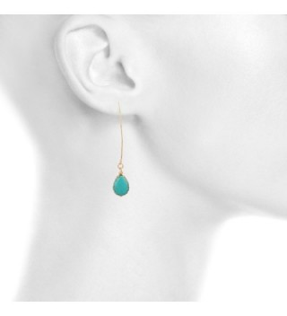 Lux Accessories Teardrop Synthetic Turquoise