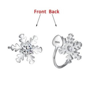 EleQueen Sterling Snowflake Crawlers Earrings in Women's Cuffs & Wraps Earrings