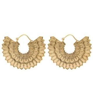 81stgeneration Women's Brass Gold Tone Egyptian Inspired Wing Tribal Ethnic Dangle Earrings - CO12LJ0D08F