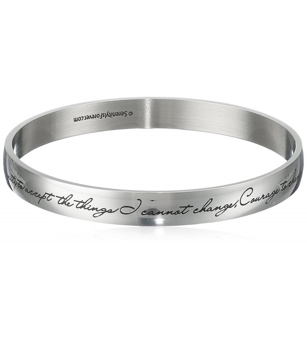 Serenity Prayer Bangle Bracelet Fine Discreet Engraving - CS114XNDN2T
