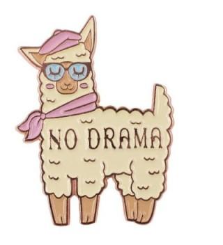 No Drama Llama Enamel Cute Pin - CX189C5LS6N
