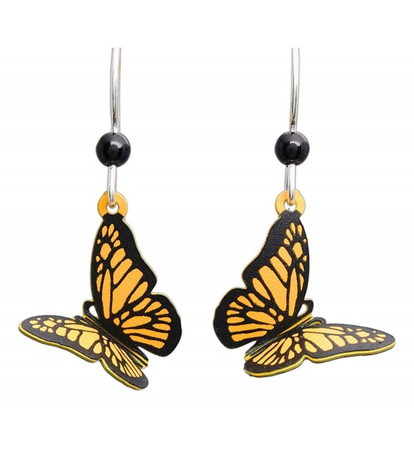 Sienna Sky Hypo-Allergenic 3D Butterfly Fish Hook Earrings - CY12CDPO0BL