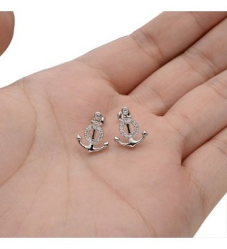 EVER FAITH Sterling Zirconia Nautical in Women's Stud Earrings
