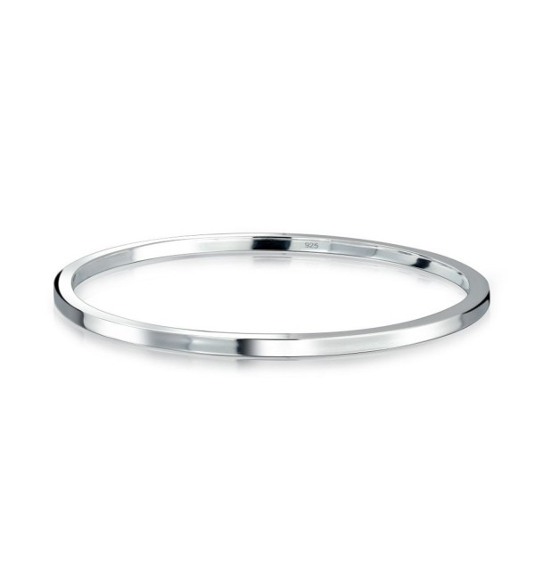Bling Jewelry 925 Sterling Silver Thin Polished Stackable Bangle Bracelet - CC11NBHJ25P