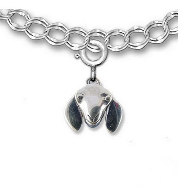 Sterling Silver Nubian Goat Charm for charm bracelet by The Magic Zoo - CO119B2DOM1
