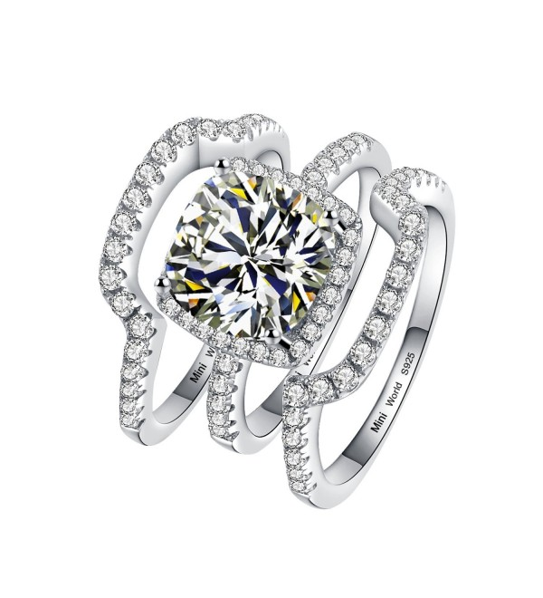 Cushion Princess Synthetic Diamond Engagement - CW12MAXKVAY