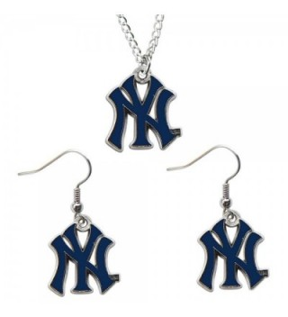 New York Yankees Necklace & Dangle Earrings Set Charm NY - CI116IW2QHL