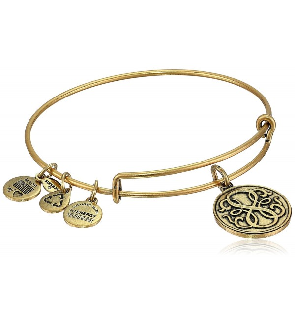 "Alex and Ani Bangle Bar ""Path of Life"" Rafaelian Gold-Tone Expandable Bracelet - CN118VNE0H9"
