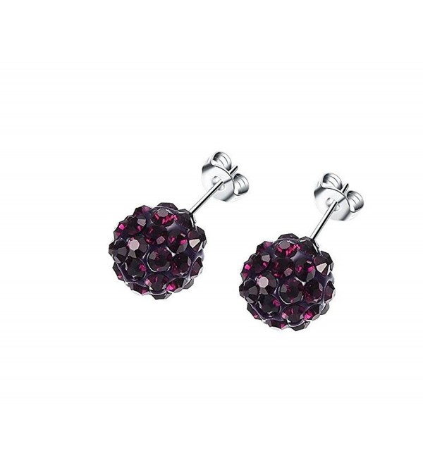 Surgical Stainless Shambala Earrings Hypoallergenic - Purple - CE188CL2QLH