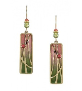 Adajio by Sienna Sky Olive Sunset Pink Column Overlay Earrings 7535 - CH11DMRS6QP