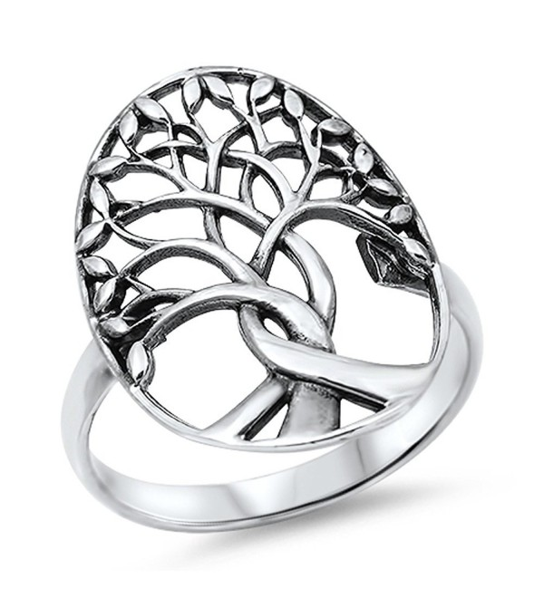 CHOOSE YOUR COLOR Sterling Silver Tree of Life Ring - CP11Y23KNYL