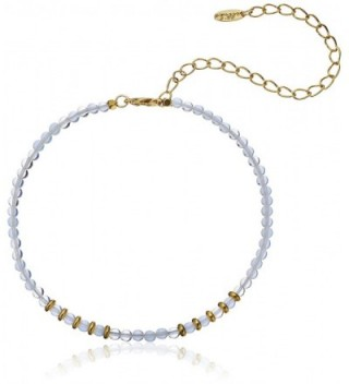 "Ettika Still Surprise You Opal and Gold-Plated Brass Choker Necklace- 11"" + 5"" Extender - C412DAVNR0B"