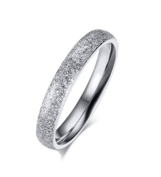 SHINYSO Womens 3mm Stainless Steel Sparkle Wedding Band Engagement Ring - C512BGKKBYT