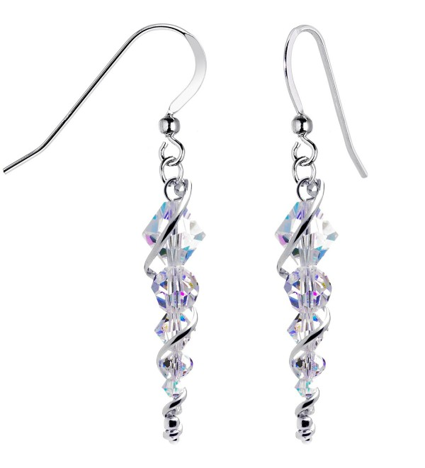 Body Candy Handcrafted 925 Silver Icicle Drop Earrings Created with Swarovski Crystals - CI113Y45JK7