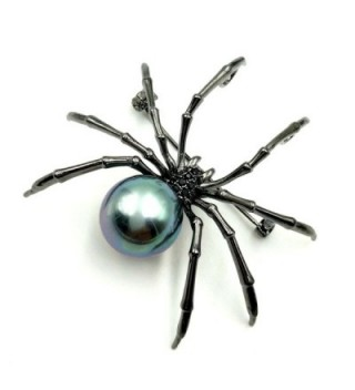 Victorian Mother Spider Brooches Silver