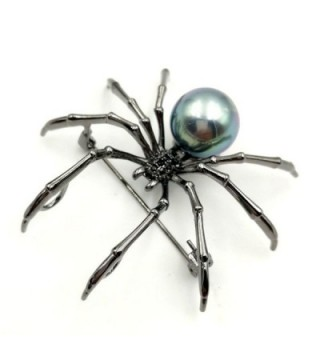 Victorian Mother Spider Brooches Silver in Women's Brooches & Pins