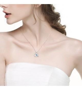 Birthday Birthstone Aquamarine Swarovski Jewelry 20 in Women's Pendants