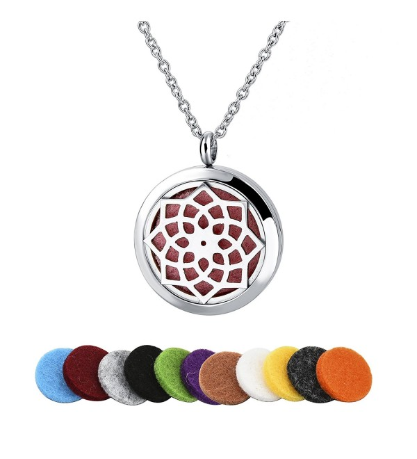 Sunflower Stainless Essential Diffuser Choker - Octagon Flower - CK12NBUGPMD