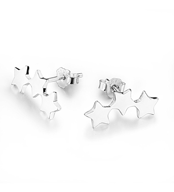 Star Climber Stud Earrings | 925 Sterling Silver - CQ187KKN28X