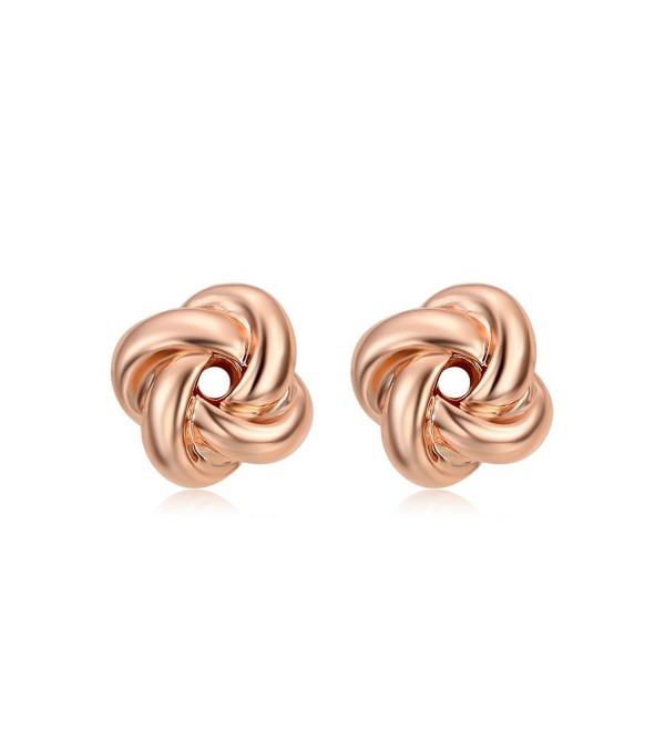 DIFINES Redbarry Plated Love knot Earrings - Rose - CK12BPVL9Y5