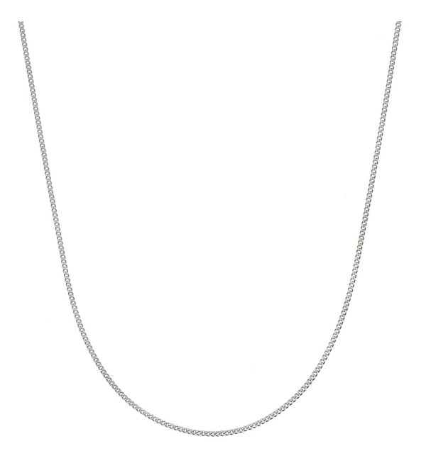 "Sterling Silver Italian 1.4mm Diamond-Cut Cuban Curb Chain Necklace All Sizes 16"" - 30"" - CW12N2HHT0V"