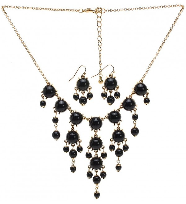 Lova Jewelry Colored Dew Necklace and Earrings Set - C912GPJOJ7B