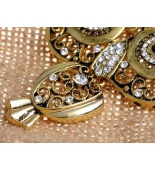 Alilang Antique Golden Rhinestone Embellish